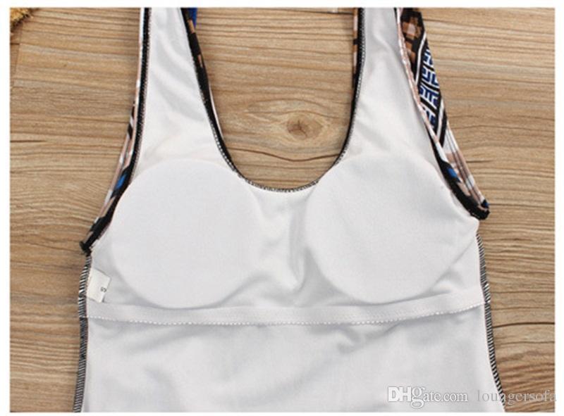 Femme Badeanzug Bademode Dame Bikini Frau Druck Mit Brust Pad Erwachsenen Einteiler Anzüge Set Dreieck Hohe Qualität 25 mz V