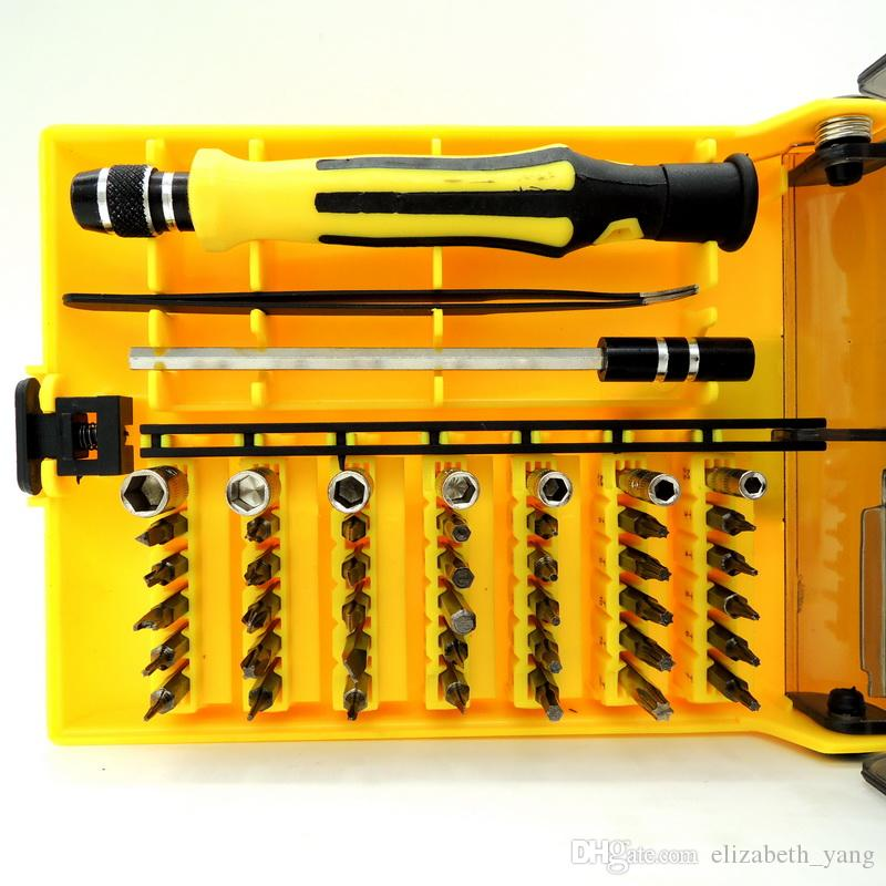 hot sale 45 in 1 mini Precision Screwdriver bit sets phillips/torx/ hex/slotted for repair computer/pc/laptop/phone