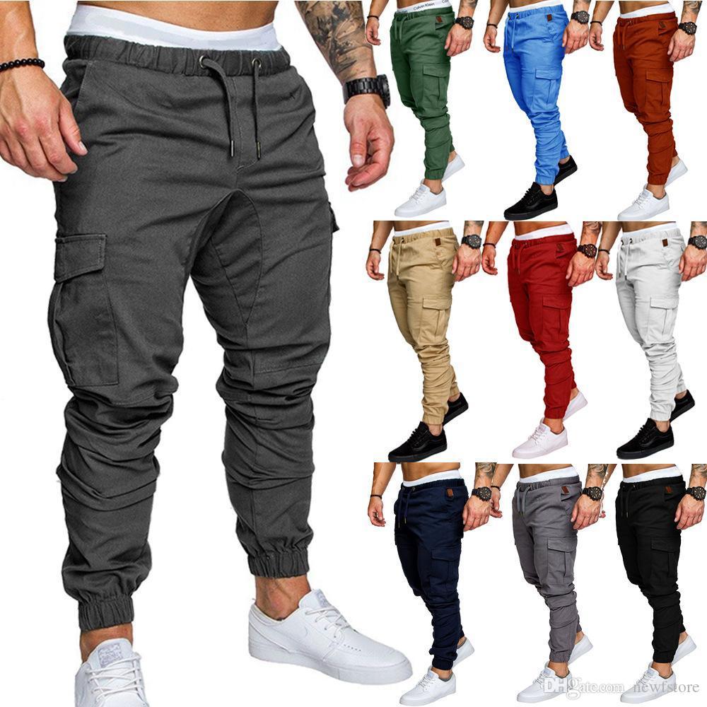 1ddc318ce7 Compre Pantalones De Hombre Nueva Moda Pantalones De Jogging Para Hombres  Fitness De Culturismo Pantalones Deportivos Pantalones Harem Ocasionales  Tamaño M ...