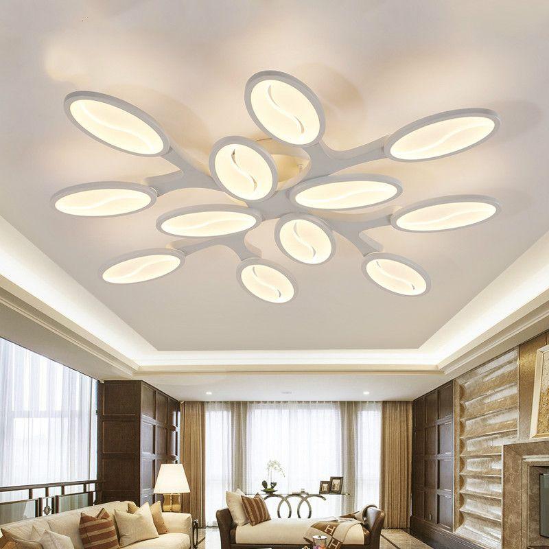 Großhandel Weiß Acryl Moderne Led Kronleuchter Für Wohnzimmer Schlafzimmer  Lüster Große Deckenleuchte Kronleuchter Leuchten Ac85 260v Von Albert0803,  ...