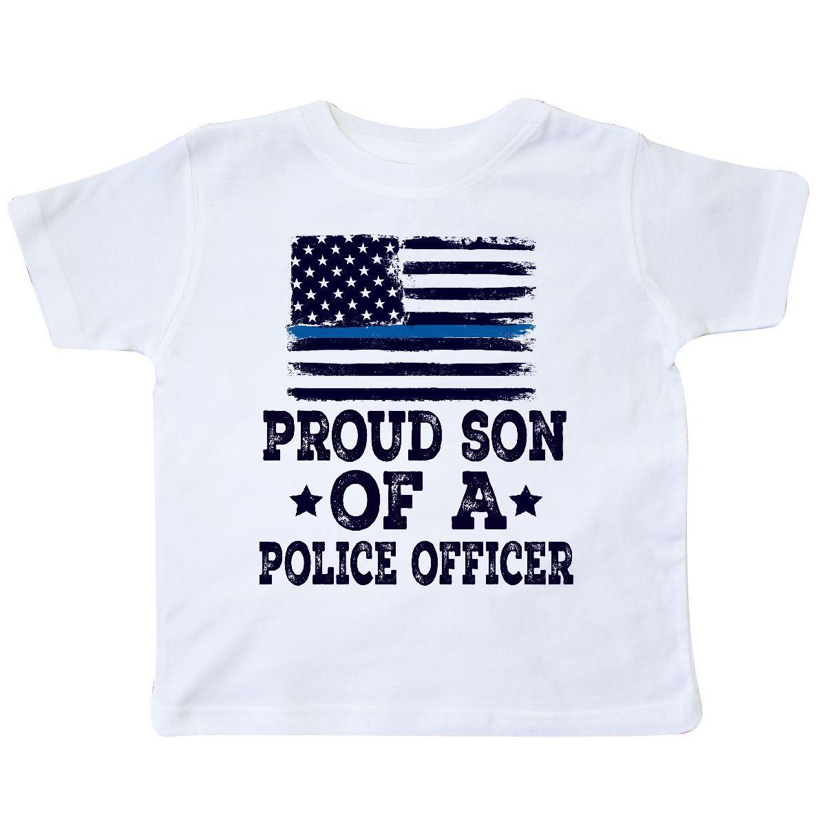 a20c44d375c29f Inktastic Police Officer Proud Son Toddler T Shirt Policeman Boys Law Flag  Blue Funny Unisex Casual Tee Gift T Shirts Online Shopping Buy T Shirts  From ...