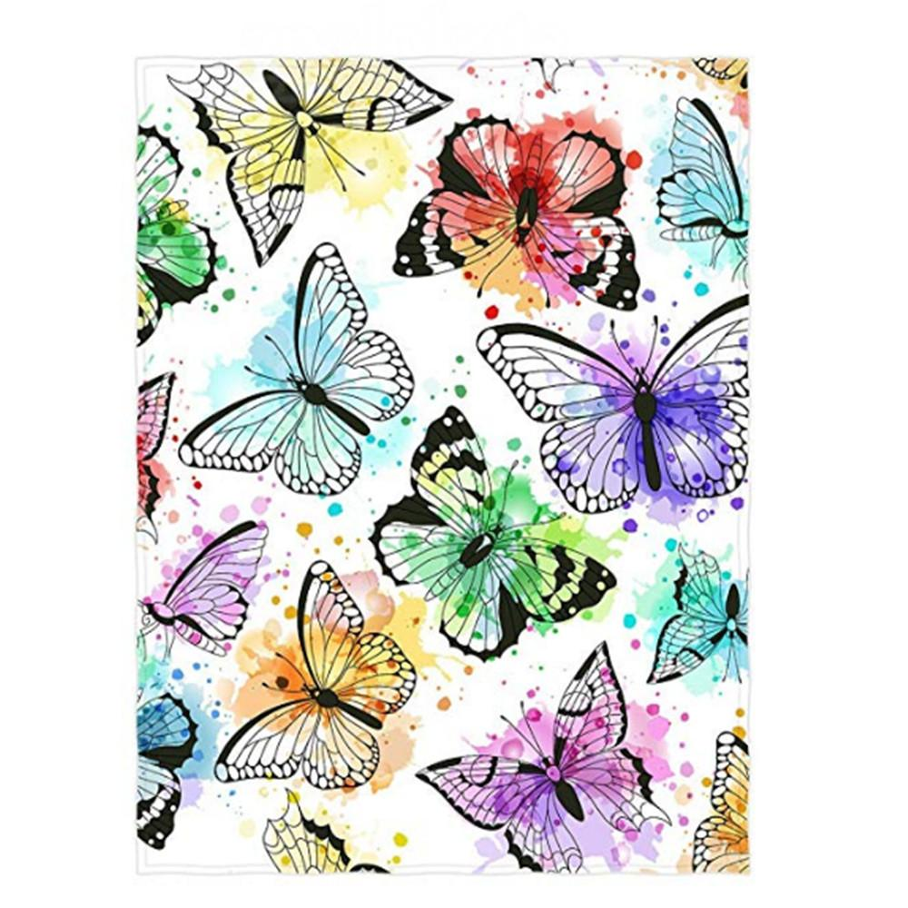 inch beautiful butterfly pattern super soft throw blanket for bed