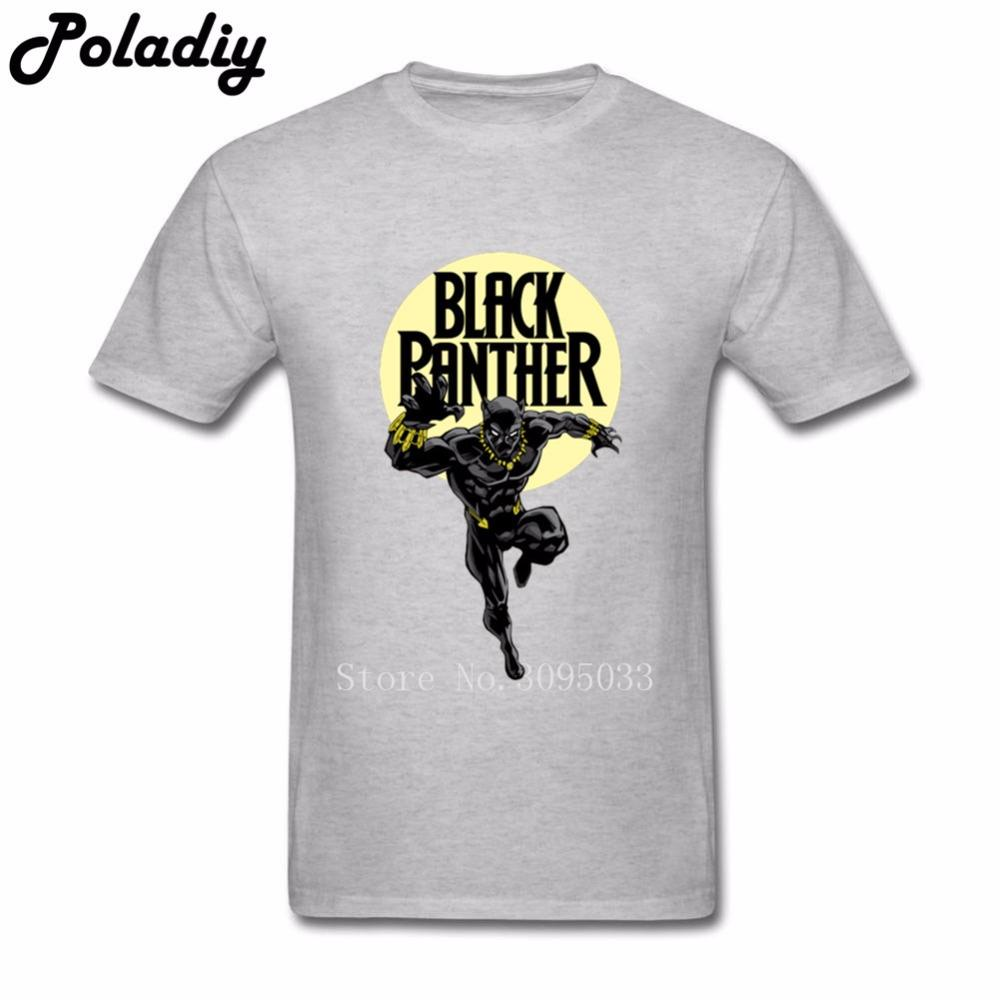 Screen Printing T Shirts Mens Black Panther T Shirt Men T Shirt
