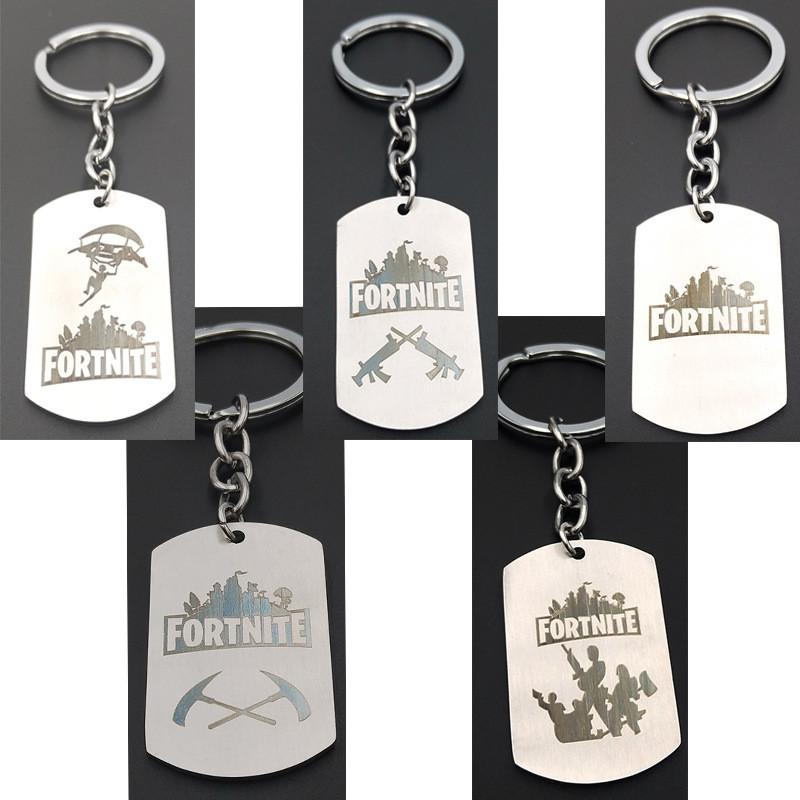 classic fps game fortnite logo necklace stainless steel pendant
