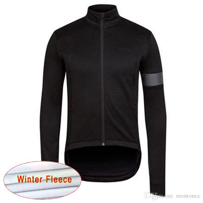 RAPHA team Cycling Winter Thermal Fleece jersey Top Sale Men Winter Windproof Bicycle Clothing Warm c1922