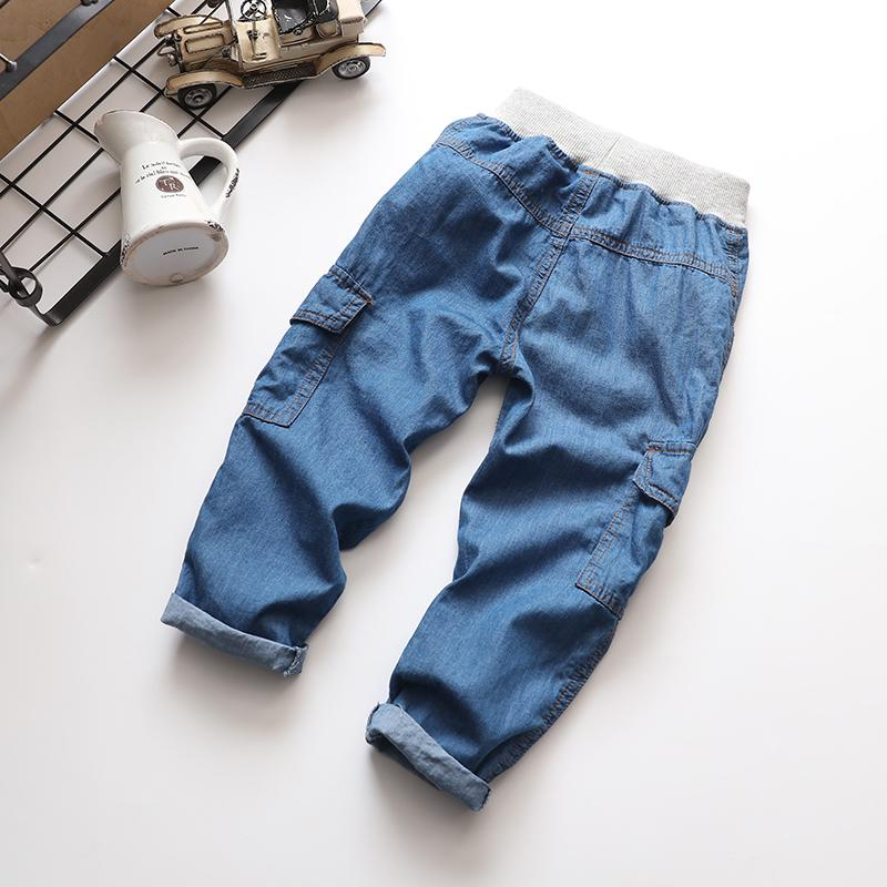 a09df6634369 Compre SHUZHI Primavera Verano Para Niños Pantalones Vaqueros De Algodón  Largo Y Fino Bebé Niños Niñas Pantalones Vaqueros Pantalones De Bebé Gordos  ...