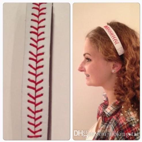 Мода софтбол Бейсбол кожаные повязки шить шов быстрый шаг волос эластичный Спорт повязки 50 шт./лот