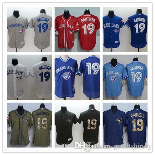 Custom Men Women Youth Blue Jays Jersey  19 Jose Bautista Home Blue ... 88b11dba81