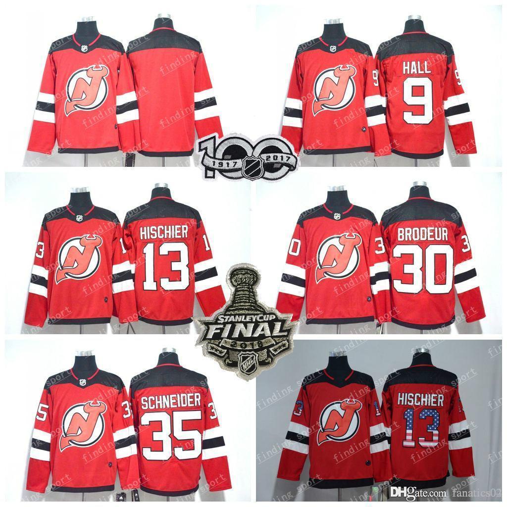 2018 Ad Season New Jersey Devils Jersey 13 Nico Hischier 9 Taylor