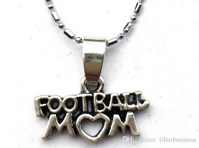 Football Mom Chain Necklace-Lariat Style Sports Team Mom School Spirit Game Day Gift drop shipping hot sale handmade jewelry