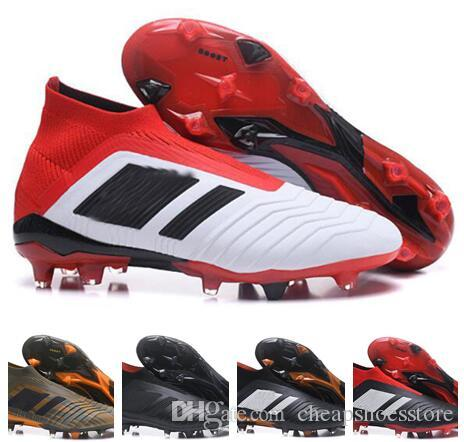 ce98d2dec Kids 2018 Originals Predator 18+ FG BOYS Soccer Cleats Mens Chaussures De  Football Boots Predator 18.1 FG Soccer Shoes Botas Futbol 39-45