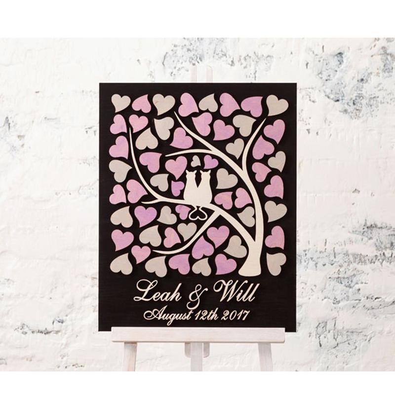 Grosshandel Personalisierte Hochzeit Gastebuch Alternative Holz 3d