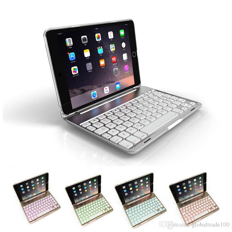9dbf61e2977 For IPad Mini 4 Wireless Bluetooth Keyboard Case Cover With Backlight For IPad  Mini 1 2 3 Aluminum Cases Tablet Case With Keyboard Tablet Cases 8 Inch  From ...