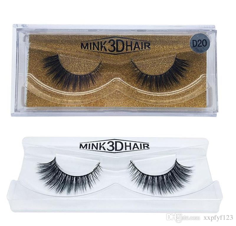 Hot Sale 3d Mink Lashes Thick Real Mink Hair False Eyelashes Natural