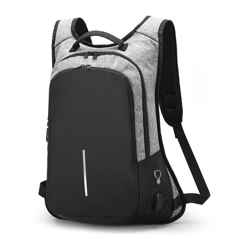 Fashion Laptop Backpack USB Charging Travel Backpack Men s Computer ... bb6b5dc970