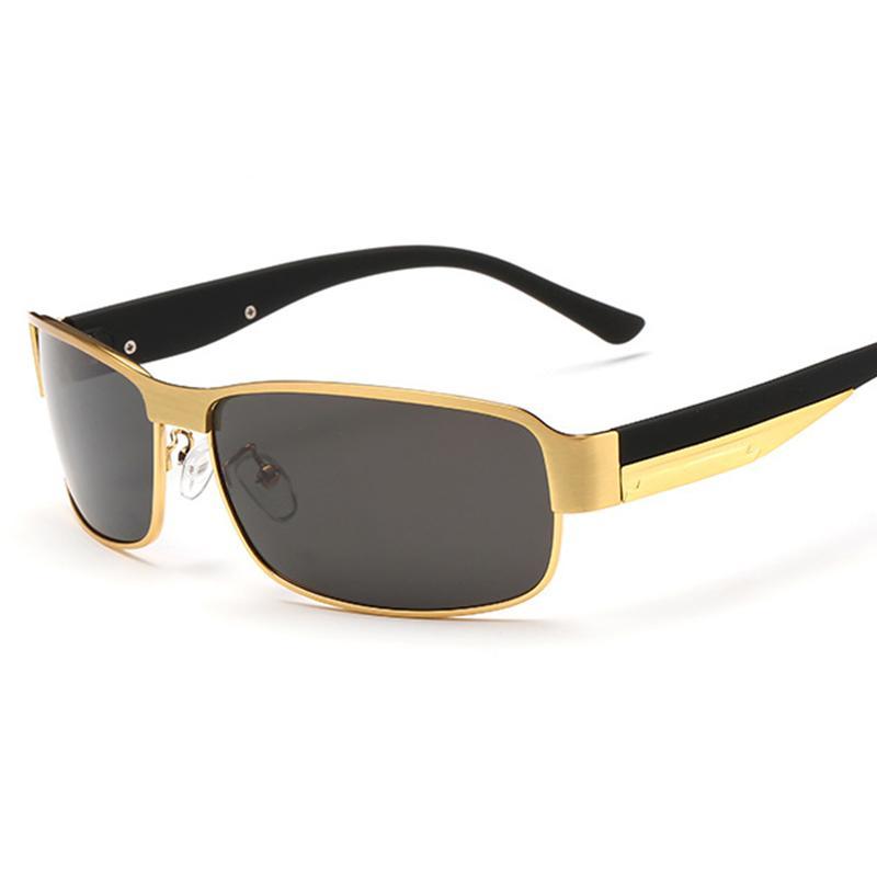 1de89c1fdb44c Compre 2018 New Fashion Classic Óculos De Sol Polarizados Homens Masculinos  Eyewear Espelho De Condução De Viagem Homens De Negócios Óculos De Sol Da  Marca ...
