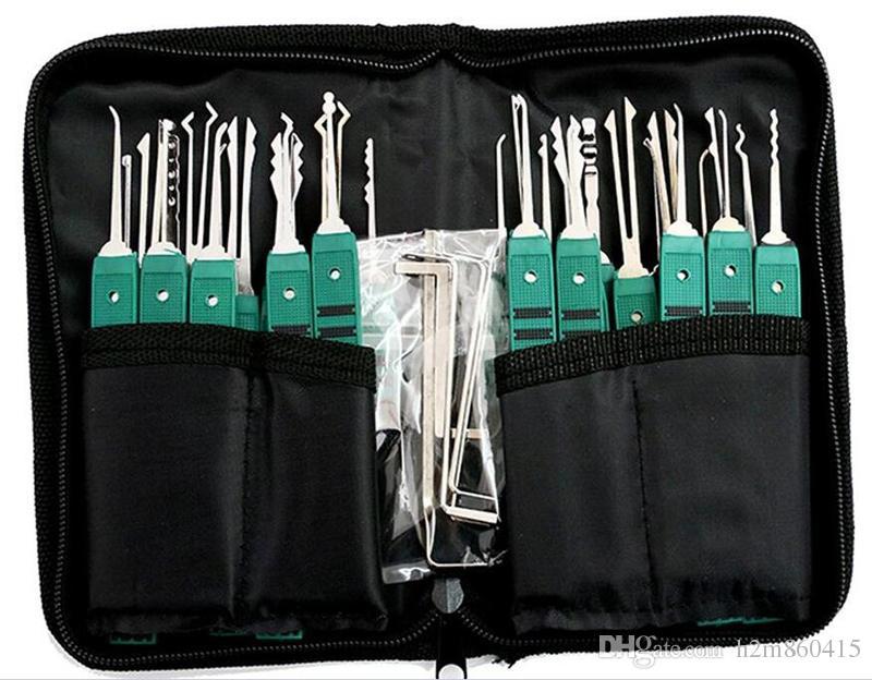 Klom 32 Piezas Lock Picks LockSmith Herramientas herramientas clave rotas Lock Pick Set Lock pick Envío gratis