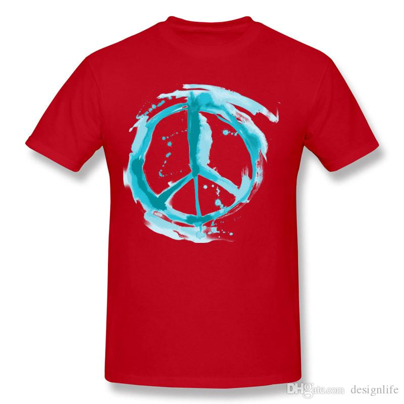 Discount Hombre 100 Cotton PEACE U MFers T Shirts Hombre Crew Neck Dark Green Short Sleeve T Shirts Plus Size Printed On T Shirts