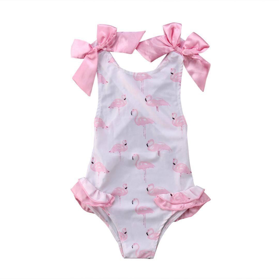 57d27c9966d7 Acquista 2018 Bambini Neonate Fenicotteri BIkini Set Costumi Da Bagno  Costume Da Bagno Bowknot Costume Da Bagno Suumer Tuta Da Mare A $34.62 Dal  Dejavui ...
