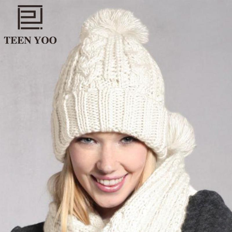 Ladies Beanies And Scarf Women Solid Casual Turban Hat Winter Ear Protector  Outdoor Sport Warm Set For Girls Ponpom Hat Crochet Beanie Pattern Beard  Beanie ... 4cf92645ebf