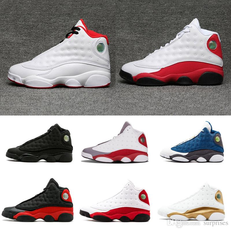 f762e0d91e7d6d 2018 Shoes 13 DMP Low Basketball Shoes Pure Money Brave Blue Chutney  Basketball Boot Top Qaulity XIII Black Red Sneakers Basketball Shoes For  Kids ...