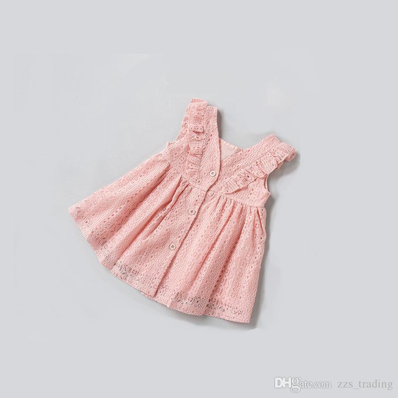 Mädchen Spitze Volant Floral Party Hochzeit Nette Blume Prinzessin Kleider Infant Kleinkind Baby Mädchen Kleidung Spitzenkleid 0-5 jahre