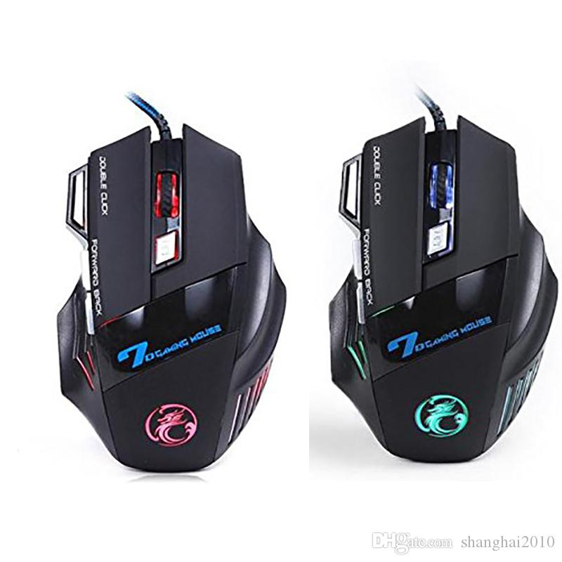 Original iMICE X7 Verdrahtete Gaming Maus 7 Tasten 2400 DPI LED Optisches Kabel Gamer Computer Mäuse Für PC Laptop 20 stücke
