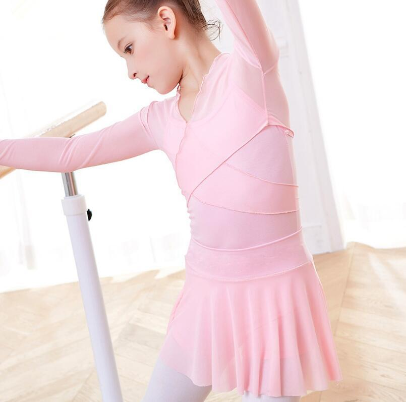 10942736f 2019 New Wholesale Summer Kids Girls Ballet Dance Gymnastics Wrap Top With  Chiffon Skirt Outfit Purple White From Guocloth, $24.49 | DHgate.Com