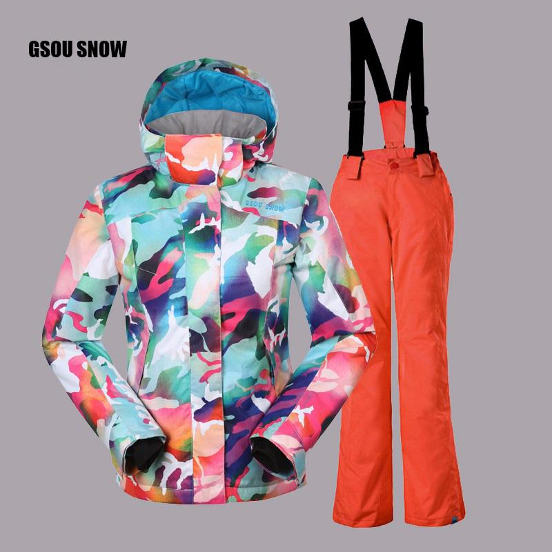 b49ee5c18f87 2019 2018 New Gsou Snow Kids Children Ski Suit Boys Or Girls Ski ...