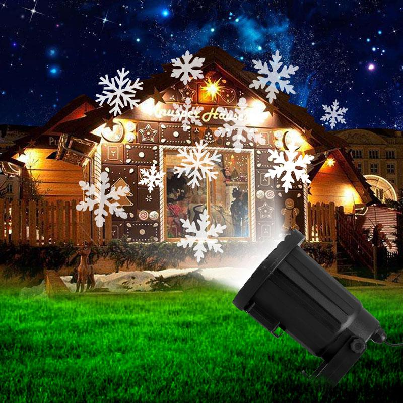 new year moving snowflake laser projector waterproof led stage light christmas outdoor landscape lighting garden dj party lamps led theatre lights theatre - Christmas Outdoor Projector