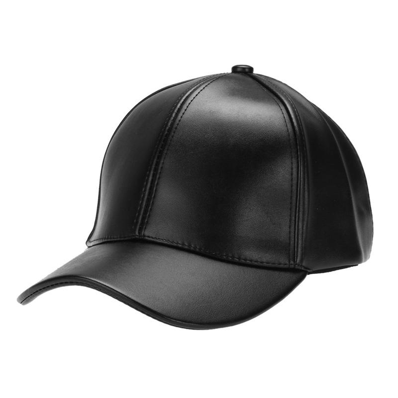 4698164cf830e Unisex Men Women PU Leather Baseball Cap Snapback Outdoor Sport Adjustable  Fashionable Hat Red Khaki Black Pink Navy Blue Brown Hat Store Ny Cap From  ...