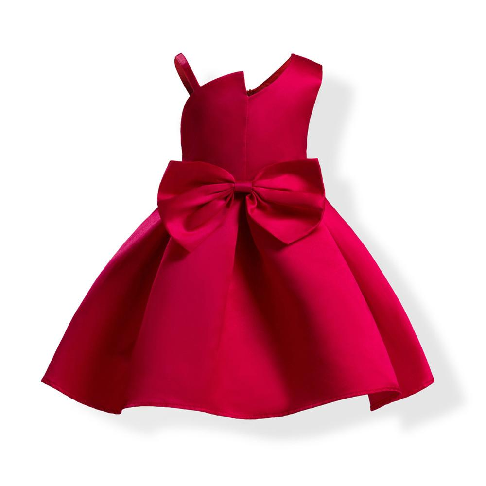 Girl Princess Dress Children Full Dress Cotton Lining Wedding Satin ...