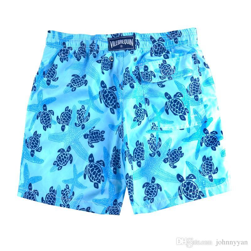 Summer Vile Brand Turtle Printed Men's Beach Board Shorts Bermuda Mens Swimwear Board shorts Quick Dry Sports Boxer Trunks Shorts Swimsuits