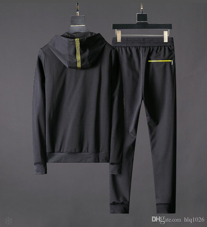 Autumn Winter New Sport Suits Men Hoodies Sets Men's Black Gym Sportswear Running Jogging Suit Male Tracksuit
