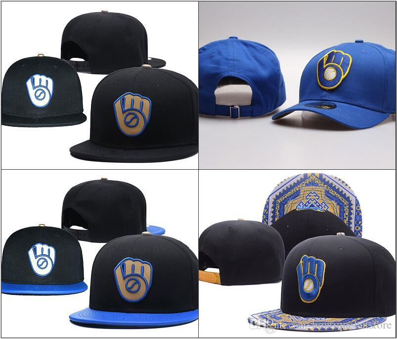 2018 Popular Brands Hip Hop Brewers Snapback Caps With Special Brim Black  Color Embroidery Logo Sports Team Baseball Adjustable Hats La Cap Flexfit  Cap From ... 4afe7de2579