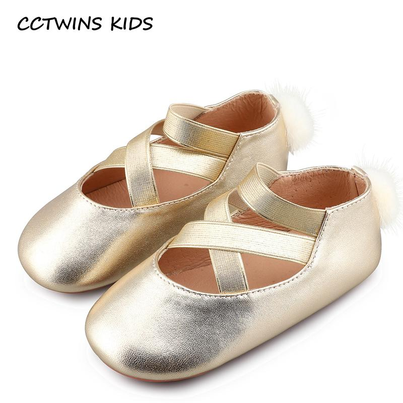 CCTWINS KIDS 2017 Summer Baby Girl Silver Ballet Pump Children Fashion  Toddler Genuine Leather Flat Brand Black Strap Shoe B836 Boys Leather Shoes  Kids ... 6c3bc18be59d