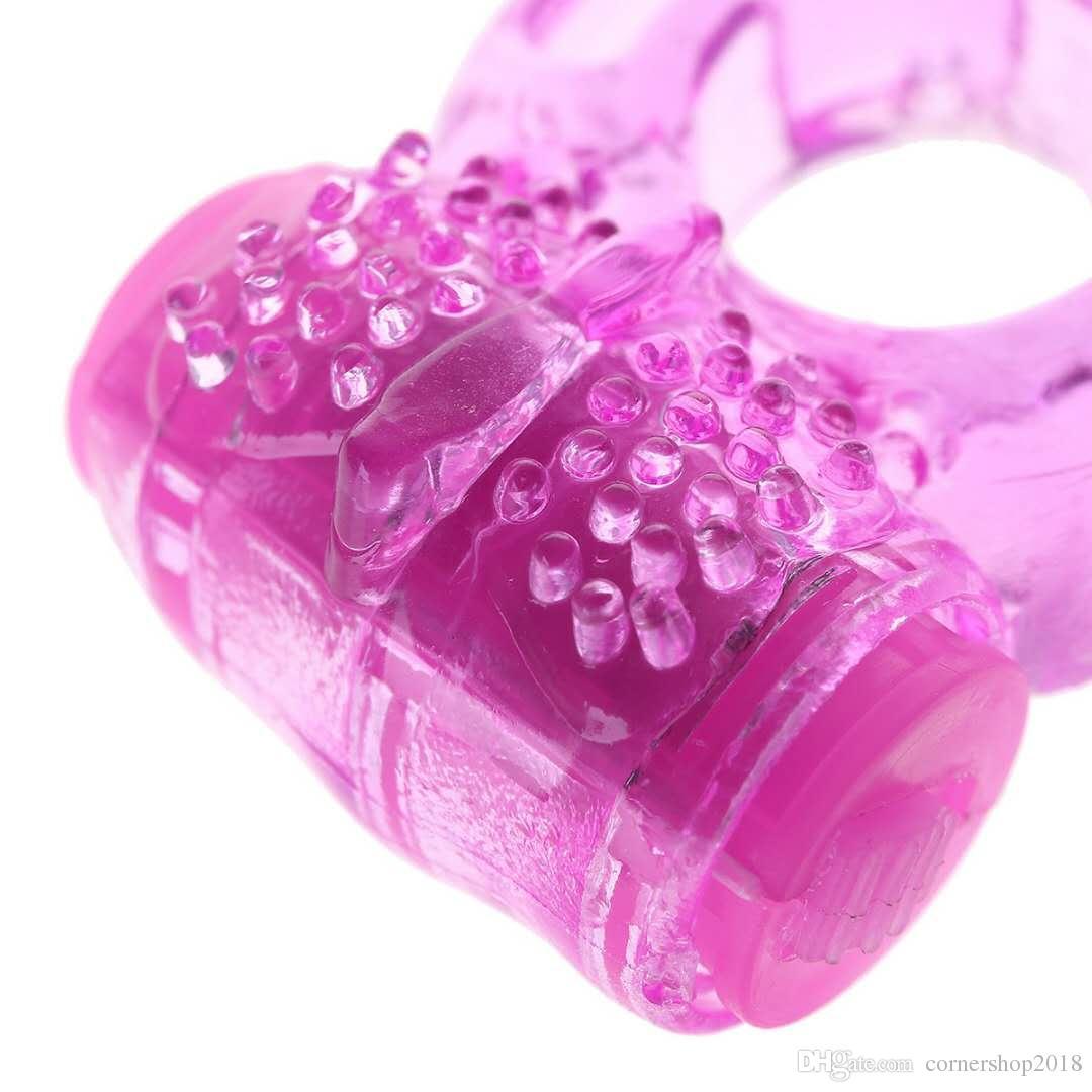 남성 진동기 섹스 제품 성인 장난감 에로틱 한 장난감 진동기에 대한 링 페니스 링 나비 링 섹스 장난감 음경 진동 PIPE 실리콘