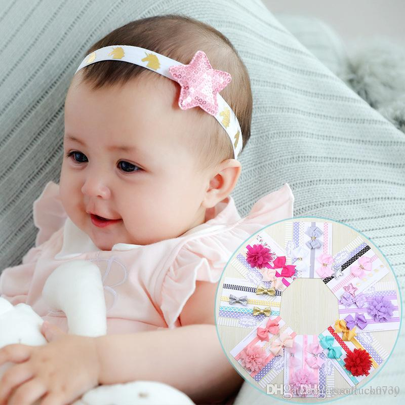 Acquista 3 Pz   Set Testa Del Bambino Arco Fiore Elastico Hairbands Bowknot  Ragazze Bambini Partito Usura Regalo Di Compleanno Bambini Accessori Capelli  ... 123f508a7f79