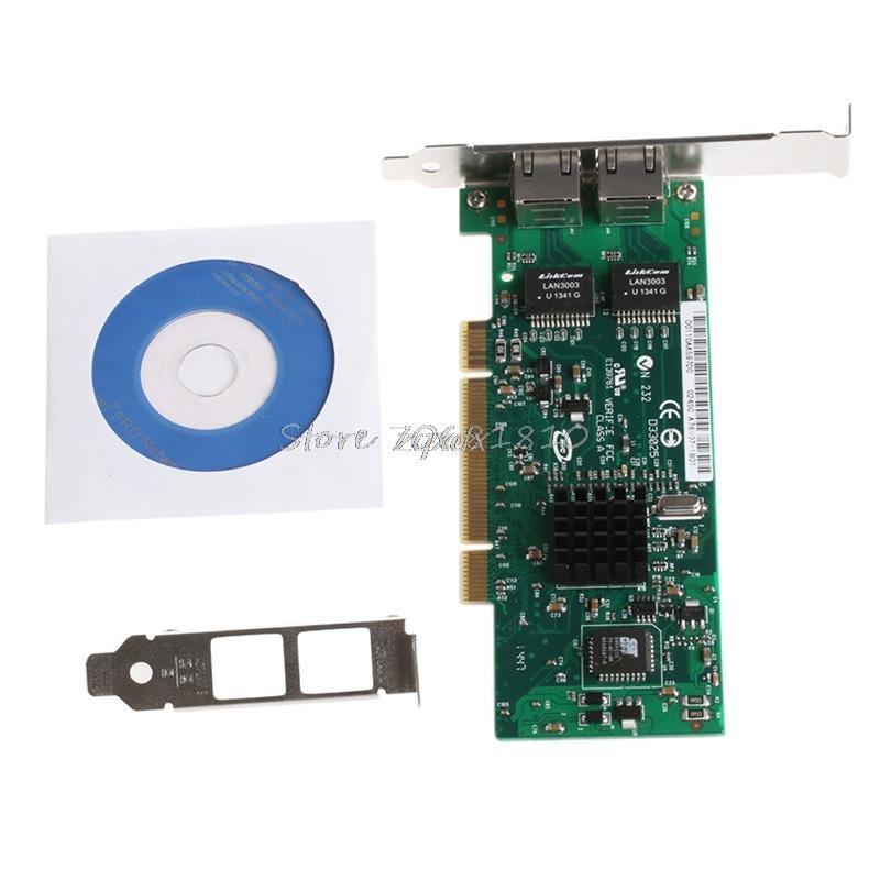 PCI Dual RJ45 Port Gigabit Ethernet Lan Network Card 10/100/1000Mbps For  Intel 82546 Z09 Drop ship
