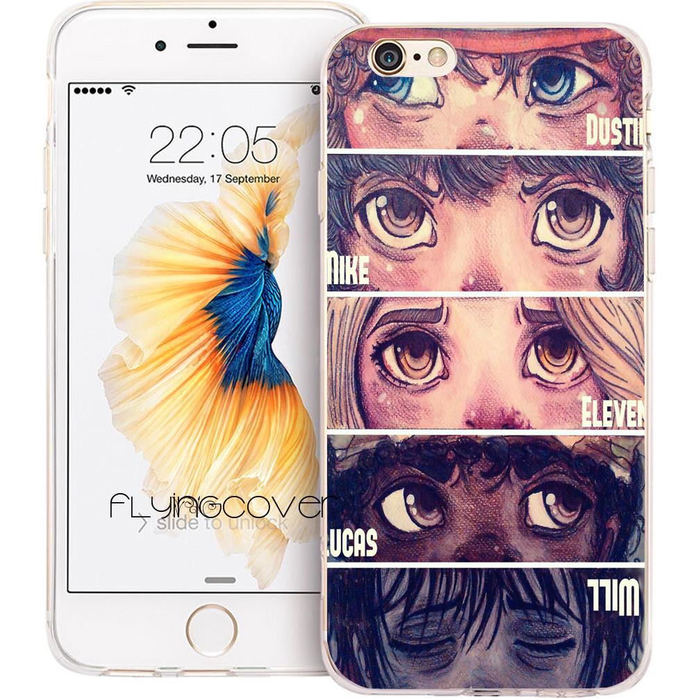 reputable site 83609 cffba Stranger Things Eyes Phone Cases for iPhone 10 X 7 8 Plus 5S 5 SE 6 6S Plus  5C 4S 4 iPod Touch 6 5 Clear Soft TPU Silicone Cover.
