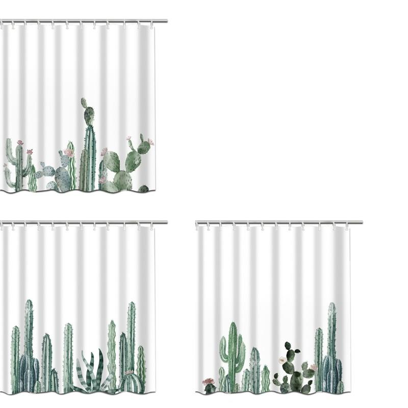 2018 Creative Digital Printing Cactus Shower Curtain Polyester Waterproof Bathroom Home Decoration From Asite 3822