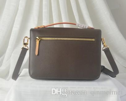 Luxo marrom mono moda clássico senhora saco couro coceteta ombro crossbody m40780 bolsa de negócios europeia