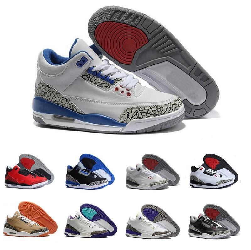 best website 48843 eecd5 Cheap 3 trainers basketball shoes wolf grey sport blue Black Cement White  True Blue Dark Powder Blue Sport sneaker boots