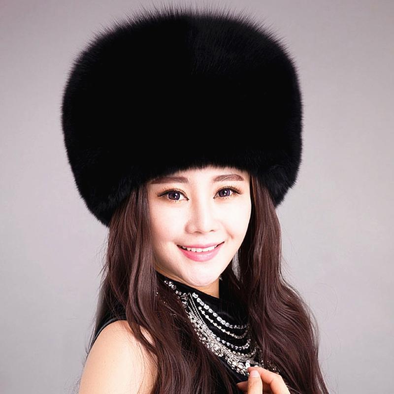 Compre Moda De Alta Calidad De Estilo Ruso Sombreros De Piel De Piel De  Zorro Sombrero Para Mujer De Invierno Caps Faux Mujeres Cálidos Sombreros  Mujer A ... 8c8ef6d80e9