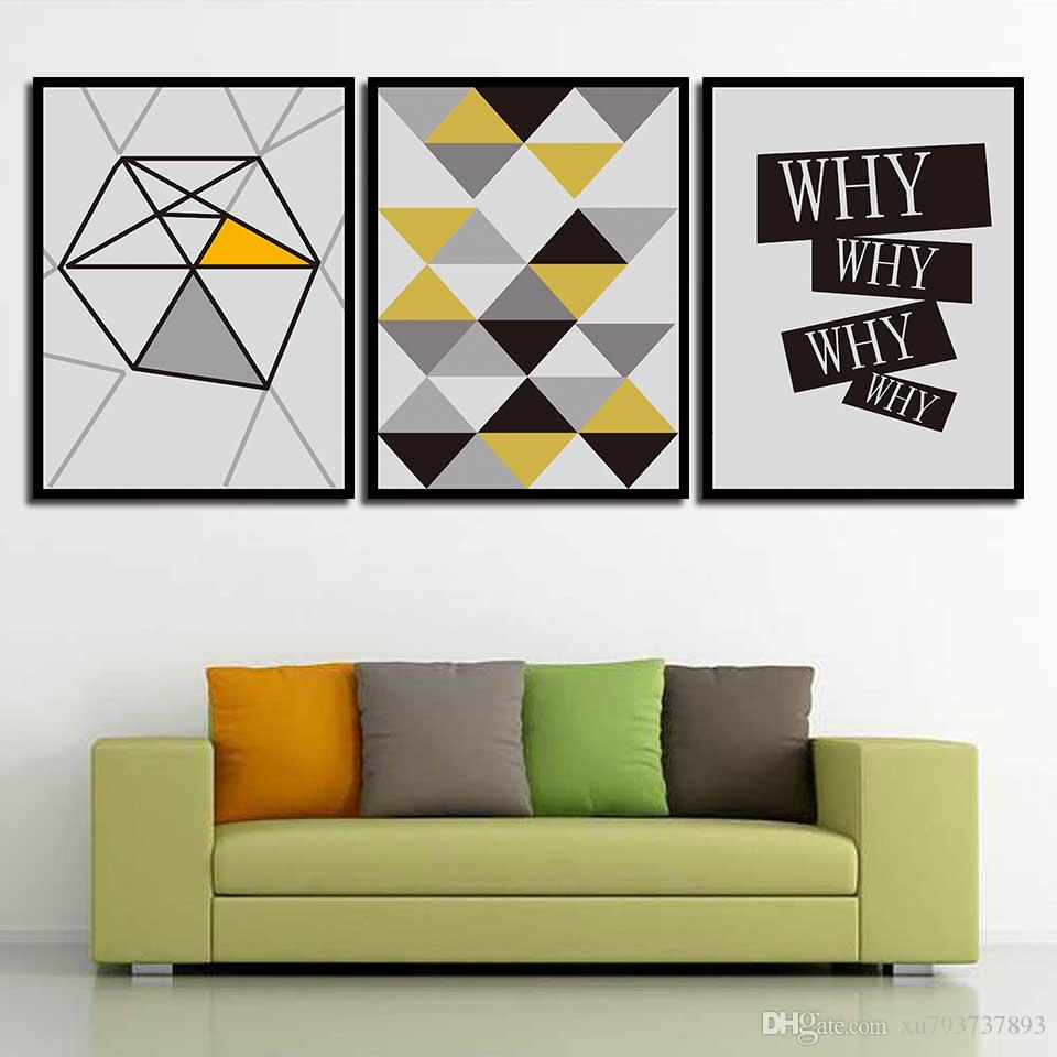 2018 Print Painting Modern Minimalist Poster Abstract Geometry Nordic Style  Canvas Art HD Wall Pictures For Home Wedding Decoration From Xu793737893,  ...