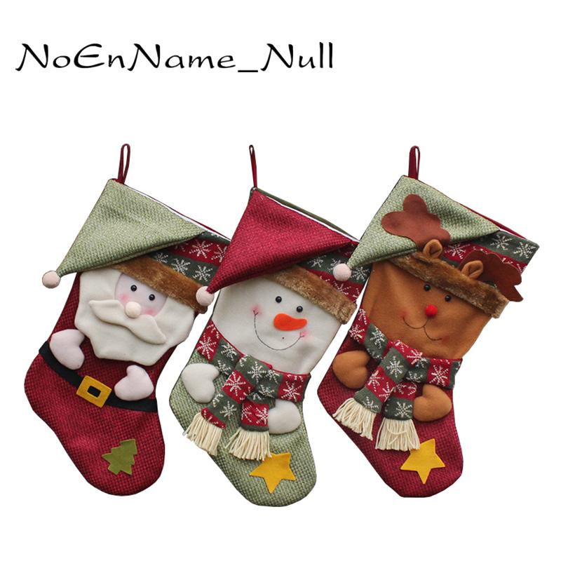 christmas stockings hand making crafts children candy gift bag santa