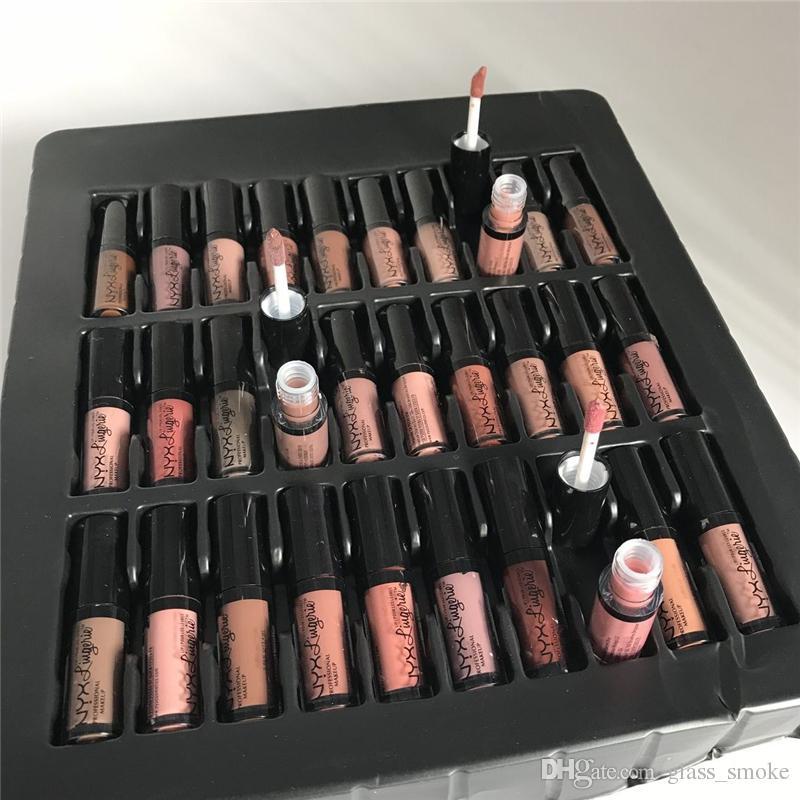 Maquillage professionnel NYX Lingerie Vault Rouge à lèvres Ensembles Mat Cream Cream 36 Couleurs Marques Liquid Cosmetics Brillant À Lèvres Maquillage Kit 2018 Vente Chaude