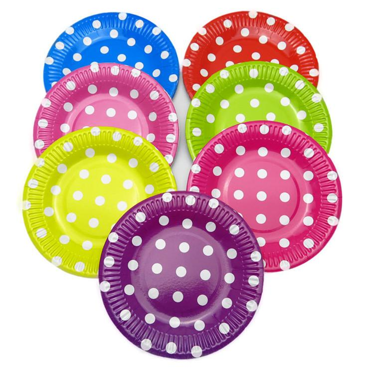 2018 1bag 9u0027u0027 Dot Polka Dot Chevron Paper Plates For Valentine Birthday Wedding Party Tableware Party Supplies Cp061 From Unclouded01 $29.97 | Dhgate.Com  sc 1 st  DHgate.com & 2018 1bag 9u0027u0027 Dot Polka Dot Chevron Paper Plates For Valentine ...