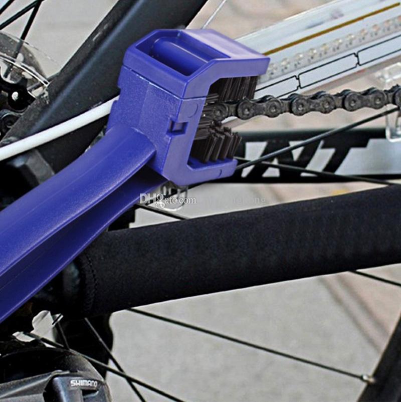 2 stücke Tank pad decals Brushes Radfahren Motorrad Fahrrad Kette Kurbel Bürstenreiniger Reinigungswerkzeug Reiniger Für Honda Kawasaki Suzuki Yamaha