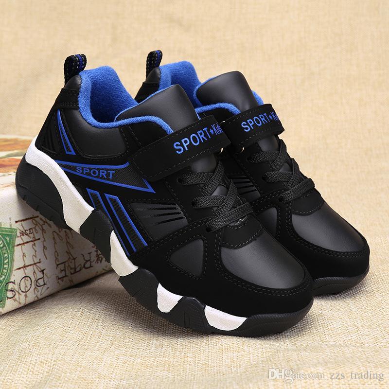 feaa05cef8d50 Acheter Garçons Chaussures Enfants Enfants Chaussures Décontractées Marque  Cuir Neige Enfants Sneakers Sport Mode Casual Enfants Garçon Sneakers Hiver  Chaud ...